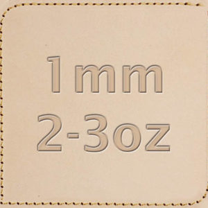 1mm 2-3oz Vegetable Tanned Leather