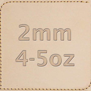2mm 4-5oz Vegetable Tanned Leather