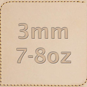 3mm 7-8oz Vegetable Tanned Leather