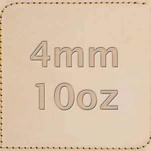 4mm 10oz Vegetable Tanned Leather
